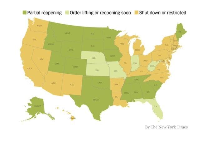 States Re-opening